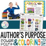 Author's Purpose PowerPoint & Printable
