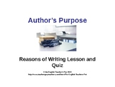 Author's Purpose PowerPoint with Quiz