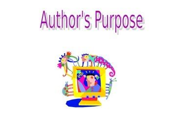 Author's Purpose Powerpoint Lesson