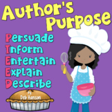 Author's Purpose PowerPoint- PIE'ED with Distance Learning Option