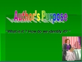 Author's Purpose PowerPoint (even for reluctant learners)