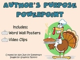 Author's Purpose Powerpoint w/ Video Clips and Vocabulary Posters