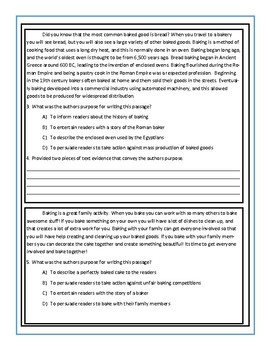 Authors Purpose Practice Packet