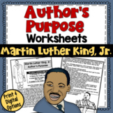 Author's Purpose Practice Paragraphs (Martin Luther King Day)