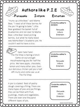 Author's Purpose Practice: Second and Third Grade
