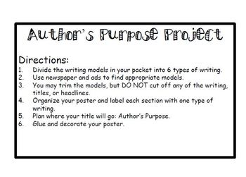 Author's Purpose Project