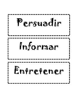 Authors Purpose/ Propósito del autor