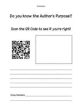 Author's Purpose ... QR Code Style!