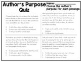 Author's Purpose Quiz