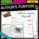 Author's Purpose: To Answer, Explain, or Describe- RI.2.6