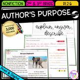Author's Purpose - 2nd Grade RI.2.6 - Printable & Digital RI2.6