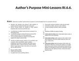 Author's Purpose RI.6.6. Mini Lessons