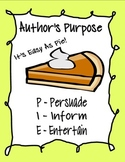 Author's Purpose Reading Block Center Rotation