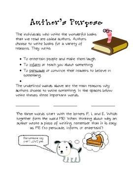 Author's Purpose Reading Block Center Rotation