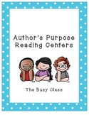 Author's Purpose Reading Centers