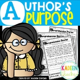 Author's Purpose Reading Comprehension Passages Distance Learning