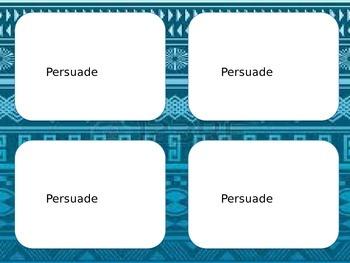 Author's Purpose Response Cards