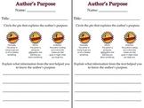 Author's Purpose Response Sheet