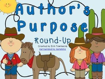 Author's Purpose Round-Up Power Point