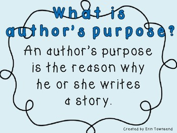 Author's Purpose Round-Up Power Point