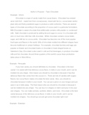 Author's Purpose Sample Paragraphs (Chocolate)