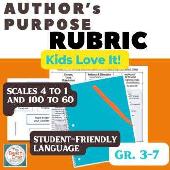 Authors purpose scale rubric marzano compatible by the beach authors purpose scale rubric marzano compatible stopboris Image collections