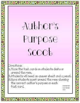 Author's Purpose Scoot Game