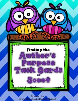Author's Purpose Task Cards, Scoot, Scavenger Hunt...