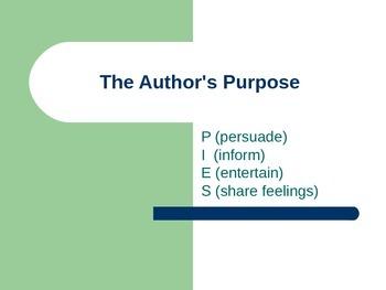 Author's Purpose Slideshow Lesson