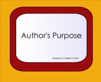 Author's Purpose Smartboard Lesson