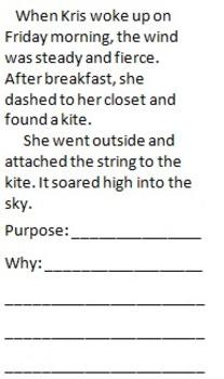 Author's Purpose Sort - 3rd Grade