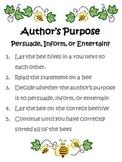 Author's Purpose Sort - Bee theme