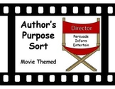 Author's Purpose Sort - Movie Theme