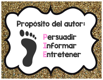 Authors Purpose Sort and posters Spanish- Proposito del Autor