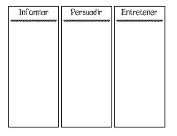 Author's Purpose Sort in Spanish and English