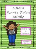 Authors Purpose Sorting Activity