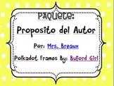 Author's Purpose (Spanish)