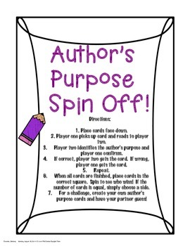Author's Purpose Spin Off