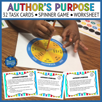 Author's Purpose Task Cards and Game