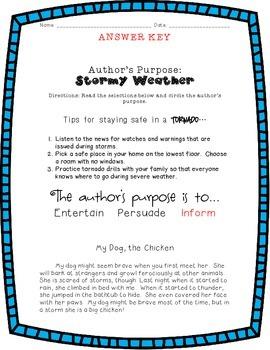 Author's Purpose: Stormy Weather