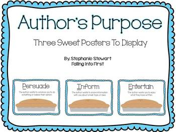 Author's Purpose: Sweet as PIE