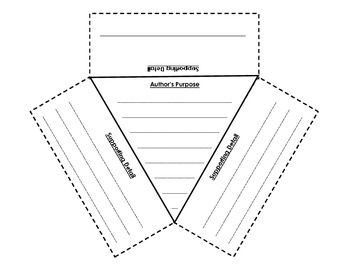 Author's Purpose Table Foldable