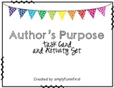 Author's Purpose Task Cards and Posters {1st-3rd}