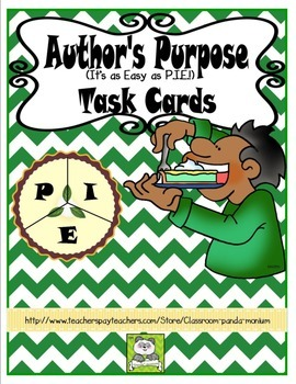 Author's Purpose Task Cards (CC Aligned)