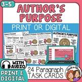 Author's Purpose Task Cards using PIE