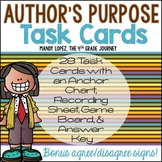 Author's Purpose Task Cards {28 Task Cards, Game Board, Pa