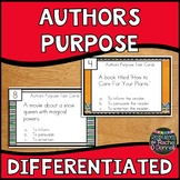 Authors Purpose Task Cards Differentiated