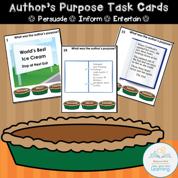 Author's Purpose Task Cards Persuade Inform or Entertain