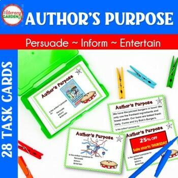 Author's Purpose Task Cards  {Primary Grades}