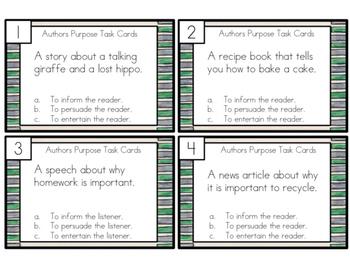Authors Purpose Task Cards SAMPLE